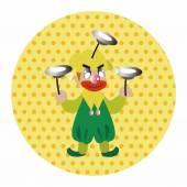 Clowns theme elements vector,eps — Vecteur
