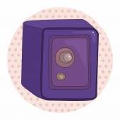 Safety Deposit Box theme elements — Stock Vector