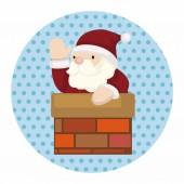 Santa claus theme elements — Stock Vector