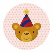 Animal bear cartoon theme elements — Stock Vector