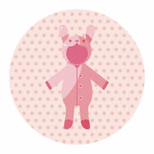 Baby clothes theme elements — Stock Vector