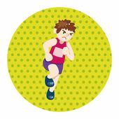 Vettore di elementi del tema di atleti atletica, eps — Vettoriale Stock