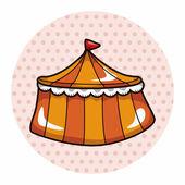 Amusement park facilities theme elements — Stockvector