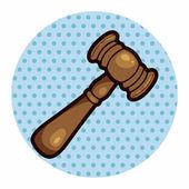 Judge Hammer theme elements — Stock Vector