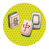 Mahjong theme elements — Stock Vector