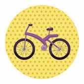 Transportation bike theme elements — Stock Vector