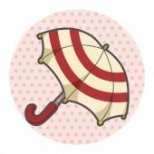 Umbrella theme elements — Stock Vector