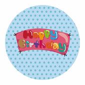 Birthday banner theme elements — Stock Vector