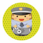 Policjant tematu elementów — Wektor stockowy