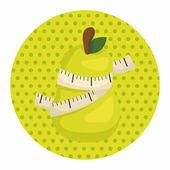 Sebze ve meyve Tema öğeleri — Stok Vektör