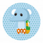 Animal elephant summer cartoon theme elements — Stock Vector #76100521