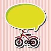 Transporte bicicleta tema elementos vector, eps — Vector de stock