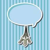 Torre Eiffel tema elementos vector, eps — Vector de stock