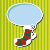Christmas decorating socks flat icon elements background,eps10 — Stock Vector