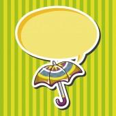 Umbrella theme elements vector,eps — Stock Vector
