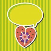 Αγάπη καρδιά κινουμένων σχεδίων στοιχεία φορέα, eps — Διανυσματικό Αρχείο
