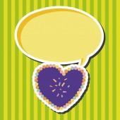 Amour coeur dessin animé des éléments vectoriels, eps — Vecteur