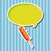 Fried foods theme hot dog elements — Stock Vector