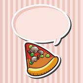 Elementi del tema Pizza — Vettoriale Stock