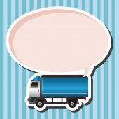 Vecteur d'éléments de thème camion, eps — Vecteur