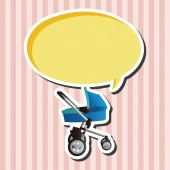 Baby carriages theme elements — Stock Vector