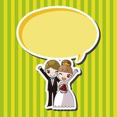 Wedding couple theme elements vector,eps — Stock Vector