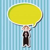 Pastor and nun theme elements — Stock Vector