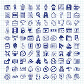 Doodle Web Icons — Stock Vector