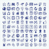 Doodle business icon — Stock Vector