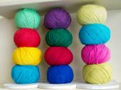 Natural woolen yarn   — Foto de Stock