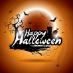 Vector illustration on a Happy Halloween theme on moon background. — Stock Vector #53737811