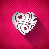 Vector Valentines Day illustration with 3d Love You typography design on heart background. — Vector de stock