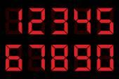Digit numbers — Stock Vector