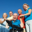 Disabled Man with family outside. — Stock Photo #54130839