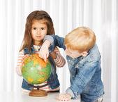 Урок географии — Стоковое фото