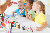 Children draw in the classroom — Stock Photo