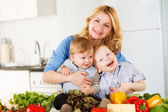 Happy together in the kitchen — Stock Photo