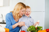 Happiness together in the kitchen — Stock Photo