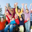 Disabled Man with Group of people — Stock Photo #67568693