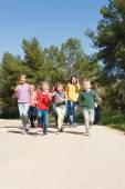 Group of People Running Outdoors — Stock Photo