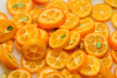 Sliced kumquat — Stock Photo