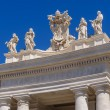 Statues on the roof of St. Peter Cathedral in Vatican — Stock Photo #52126245