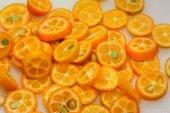 Sliced kumquat — Stock Photo