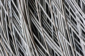 Hank of metal wire background — Stock Photo