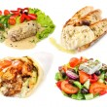 Greek and mediterranean fast street food — Stock Photo #53676737