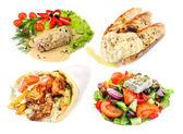Greek and mediterranean fast street food — Stock Photo