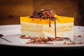 Layered cheesecake — Stock Photo
