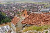 View of Rasnov from fortress. Transylvania, Brasov, Romania — Stock Photo