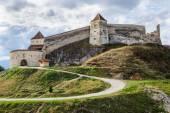 Medieval fortress in Rasnov, Transylvania, Brasov, Romania — Stock Photo