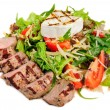Veal meat with fresh vegetable salad — Stock Photo #57030877